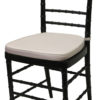 Black Cane Chair White Pad