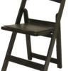 Black Padded Folding Resin Chair