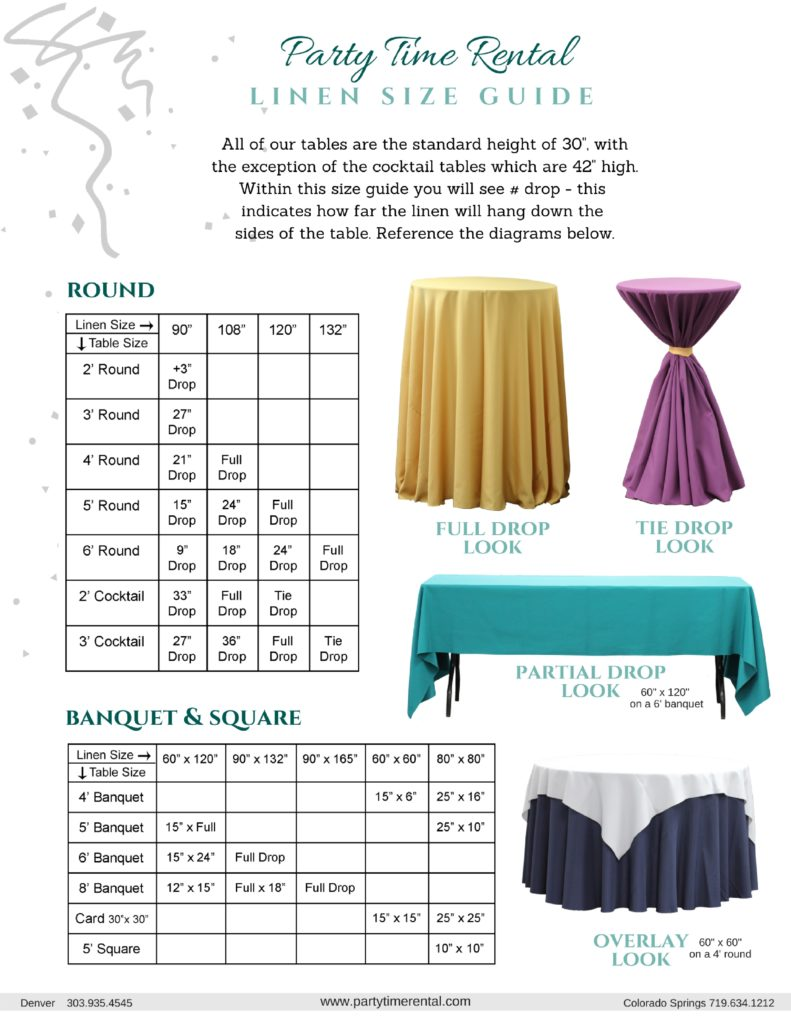 LINEN SIZE GUIDE