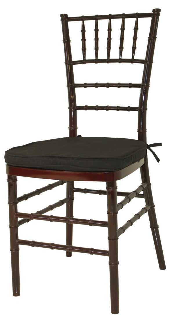 Mahogany Cane Chair Black Pad