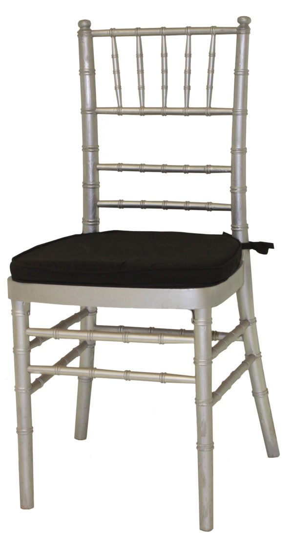 Silver Cane Chair Black Pad