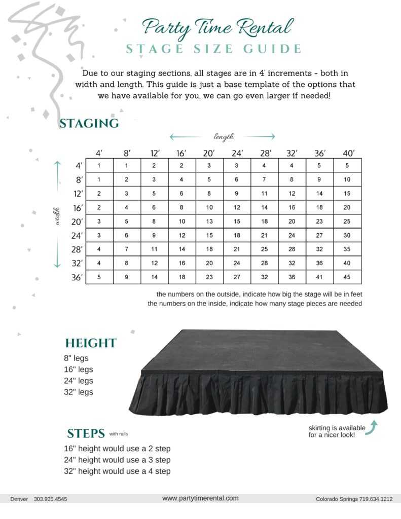 Stage Size Guide