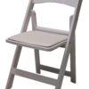 White Padded Folding Resin Chair