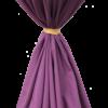 round linen tie drop