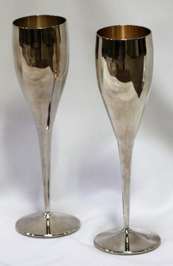 Silver Toasting Goblets