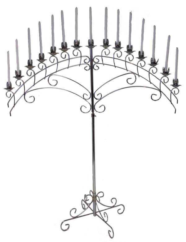 15 Silver Fan Candelabra